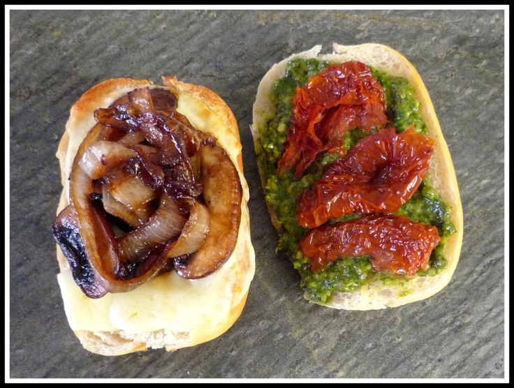 and grilled mozzarella sandwich caramelized onions pesto and grilled ...