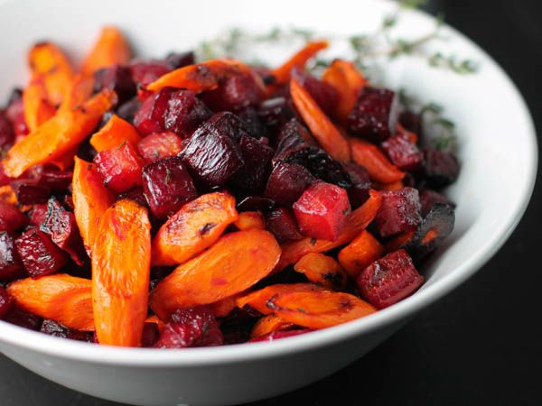 Roasted Carrots and Beets with Thyme. My favorite vegetables together ...