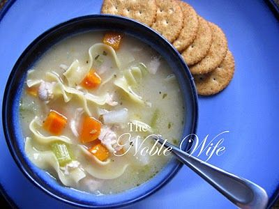 Roasted Chicken Noodle Soup | FOOD Soups | Pinterest