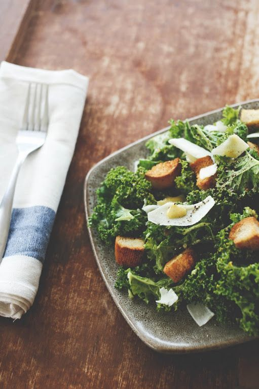 Kale Caesar Salad | Cooking | Pinterest