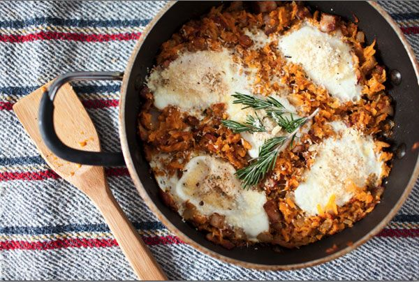 Butternut Squash Hash with Piave Eggs