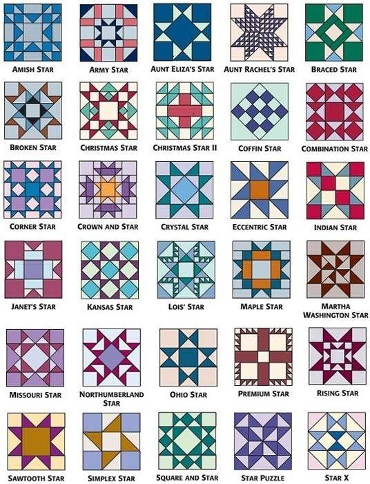 Star Pattern Quilt Blocks Quilt Blocks Pinterest