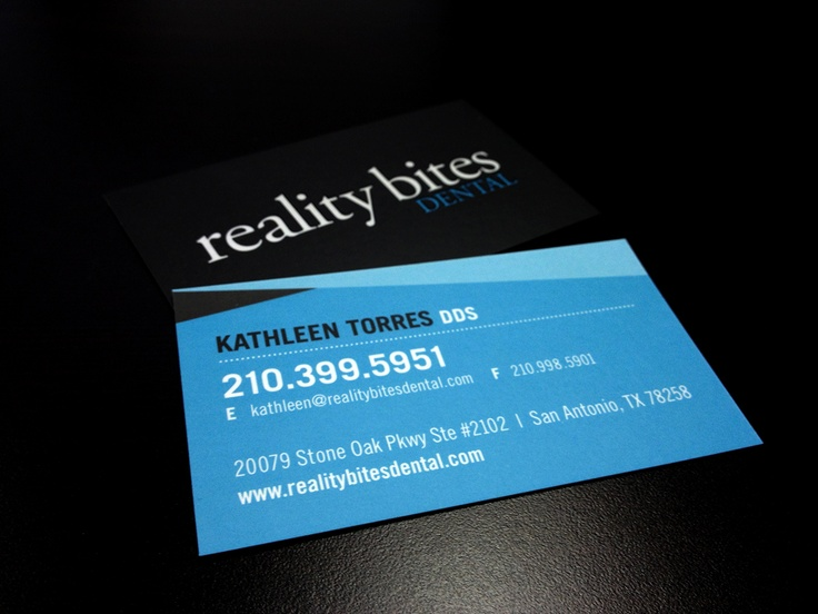 Now we present a new set of business cards for Reality