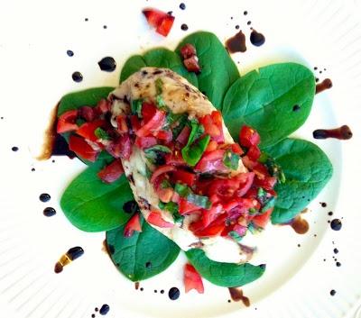 Bruschetta Chicken + Balsamic Glaze | Foodie Fun | Pinterest