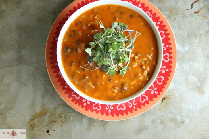 Spicy Tomato Lentil Soup, uses pre-cooked lentils from Trader Joe's to ...