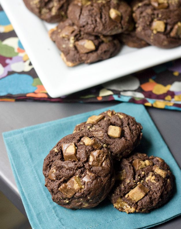 Chocolate Peanut Butter Cup Cookies Recipe — Dishmaps