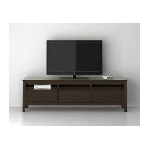 hemnes tv unit black brown. Black Bedroom Furniture Sets. Home Design Ideas