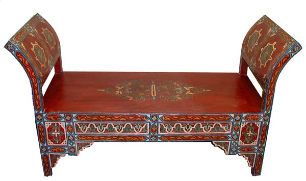 Hand painted moroccan bench for the home pinterest Moroccan bench