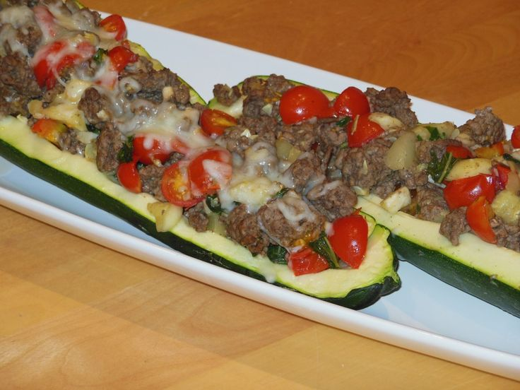 stuffed zucchini boats | Kristopher Recipes | Pinterest