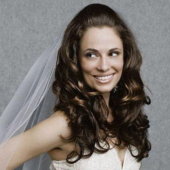 i like her hair. down-do for wedding
