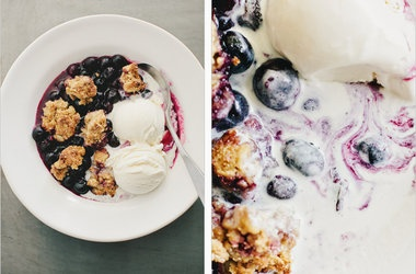 Blueberry-Oat Biscuit Cobbler Recipes | Colorful Yummy! | Pinterest
