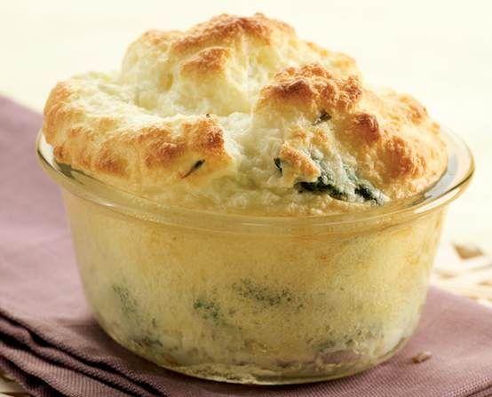 Asparagus-Goat Cheese Souffles Recipe | Sides | Pinterest