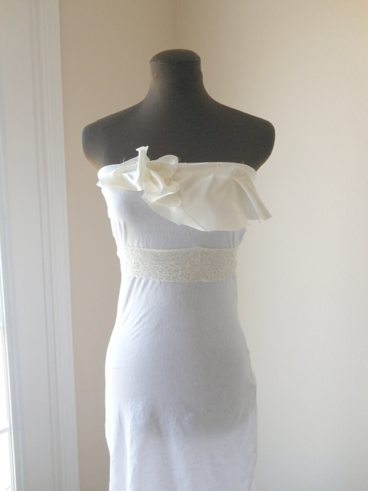 Pin by treenalee on of a love pinterest for Simple cotton wedding dress