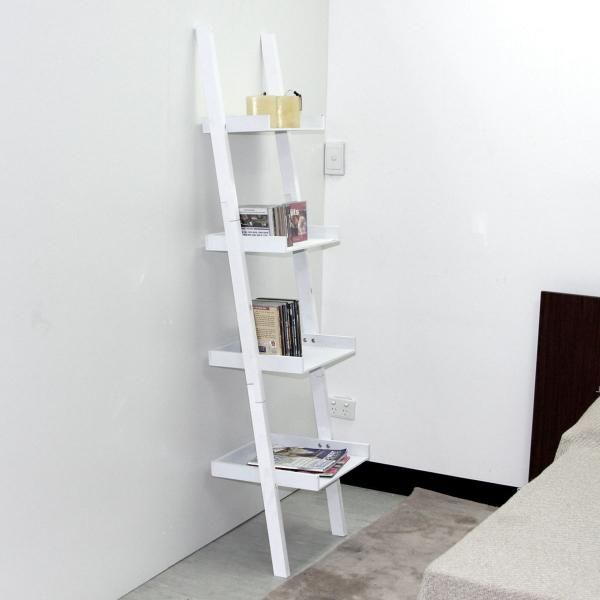 Ladder shelf in bathroom good ideas practical things for Bathroom ladder shelf