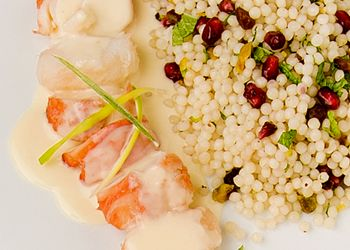 ... Tails with a side of Pomegranate Pistachio Couscous? Yes, please