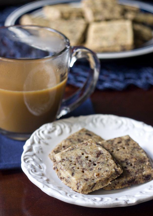 Espresso Shortbread Cookies | food = (mostly) vegetarian | Pinterest