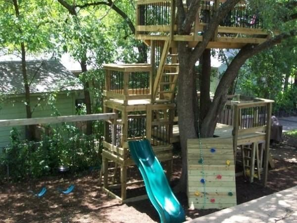 Backyard Treehouse Without Tree : Tree house,fort,playscape,club house