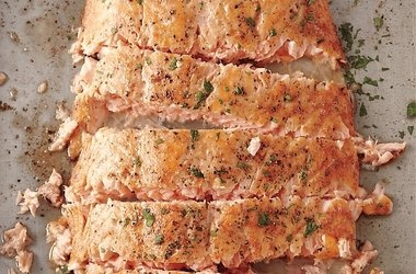 Roasted Salmon with Butter — Punchfork | Clean Eating | Pinterest