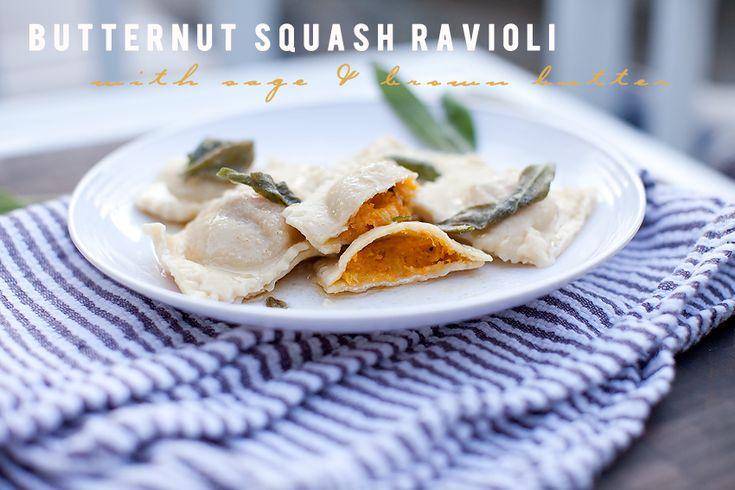 Butternut Squash Ravioli with Sage & Brown Butter [In the Kitchen ...