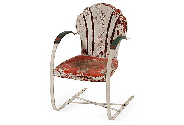 Vintage Metal Lawn Chair