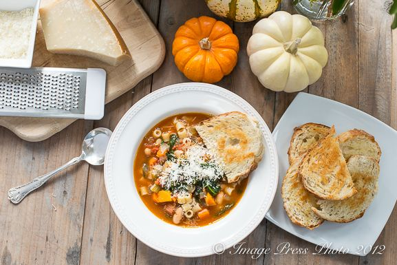 Winter Minestrone and Garlic Bruschetta | Recipe