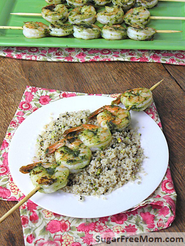 Grilled Pesto Shrimp Skewers | Recipe