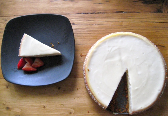 Mom's Cheesecake with Sour Cream Topping | The Artisan Baker