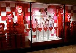 valentine's day window decorations