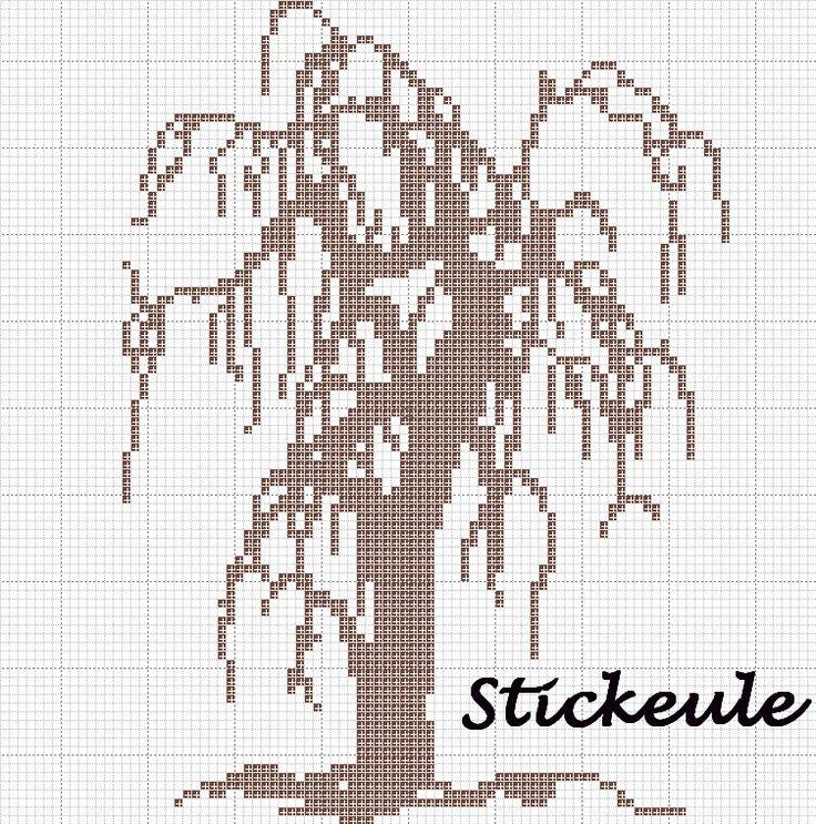 Монохромная деревьев крестом схемы