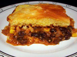 Turkey and Chipotle Black Bean Tamale Pie