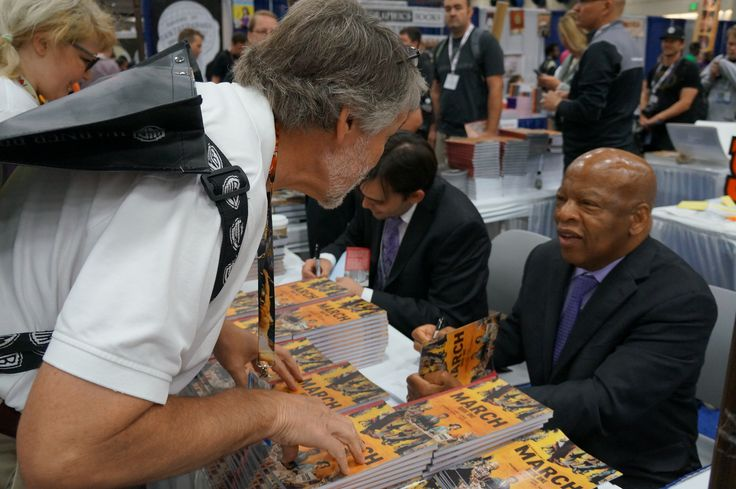 @repjohnlewis enjoying the attention @Comic_Con #SDCC #March