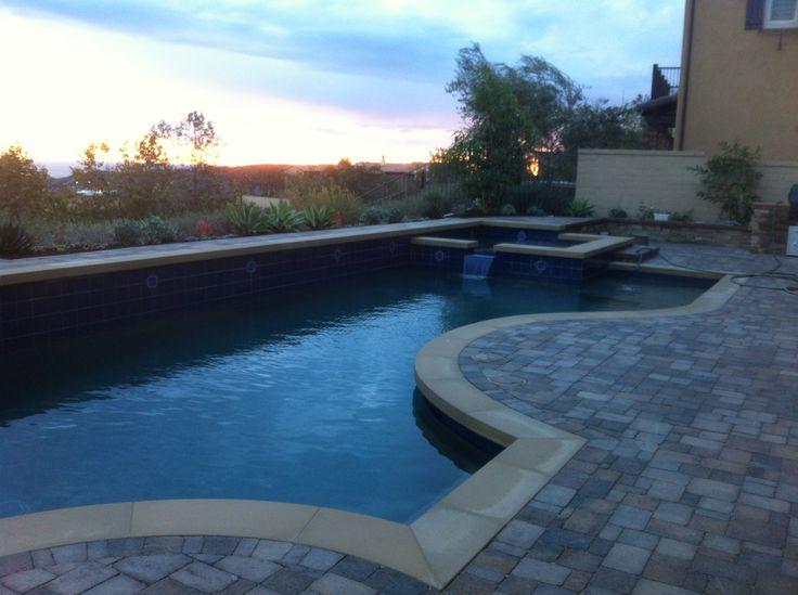 Salt water pool yardscape pinterest for Salt water pool