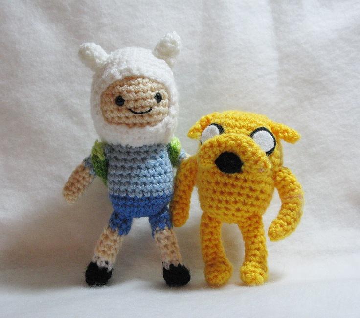 PDF Amigurumi Patterns: Jake and Finn in Adventure Time