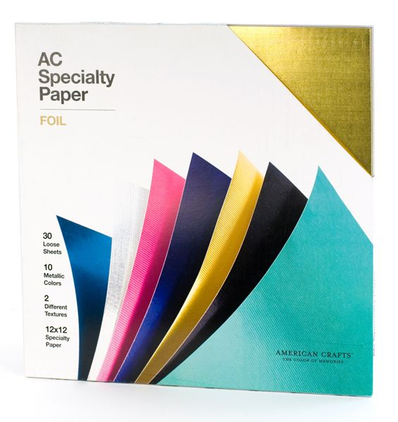 american crafts   12 x 12 specialty cardstock pack   30 sheets   foil