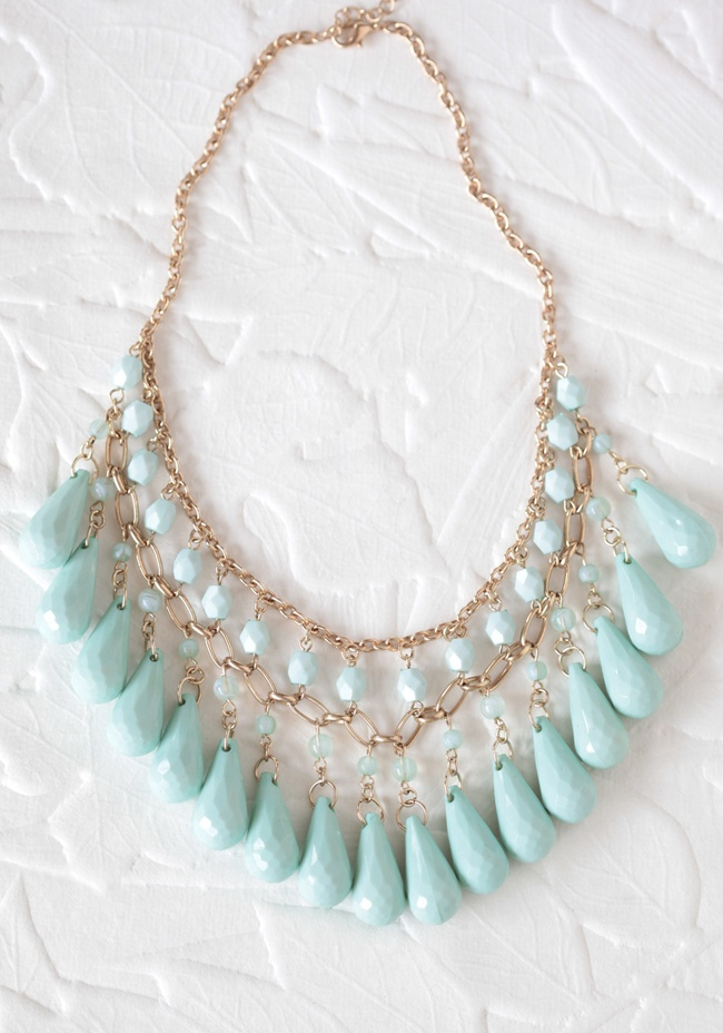 mint bib necklace from ruche