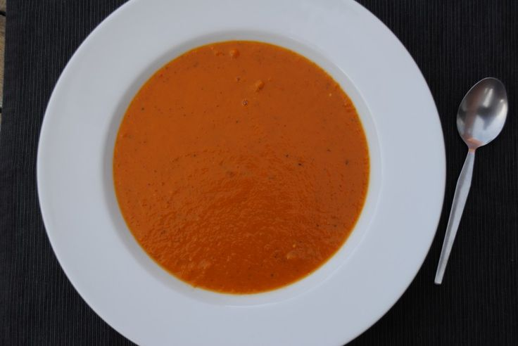 Roasted Red Pepper and Tomato Soup | soup | Pinterest