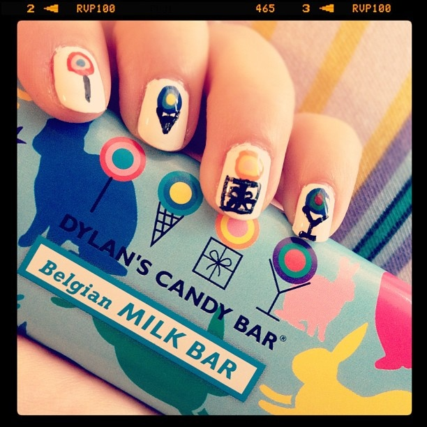 my nail art clearly inspired by favorite candy shop in the world #dylanscandybar
