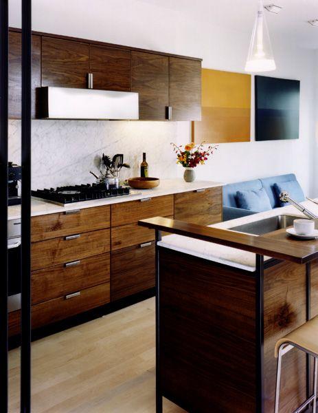 Beautiful Modern Wood Cabinets Mid Century Modern Kitchen Inspirat