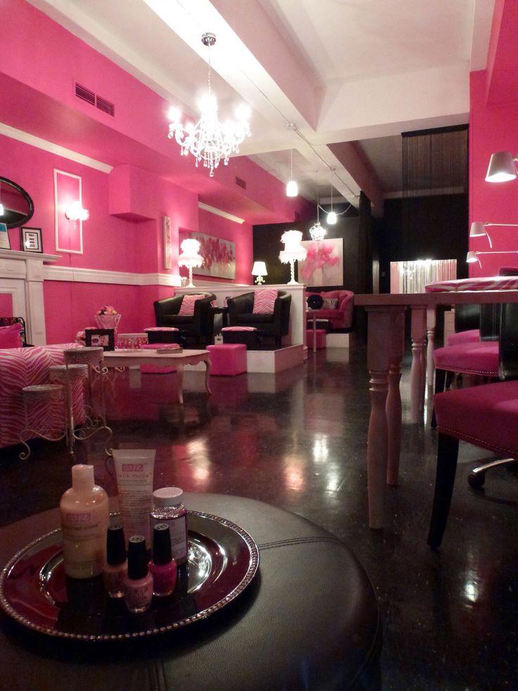 Black gold and white hair salon joy studio design for Makeup salon