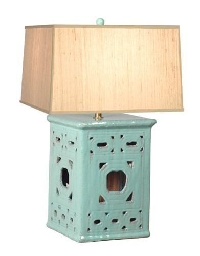 lattice garden stool lamp