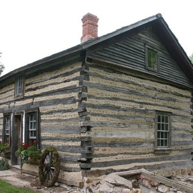 1850 39 S 2 Story Irish Half Lap Log Cabin Cabins Pinterest