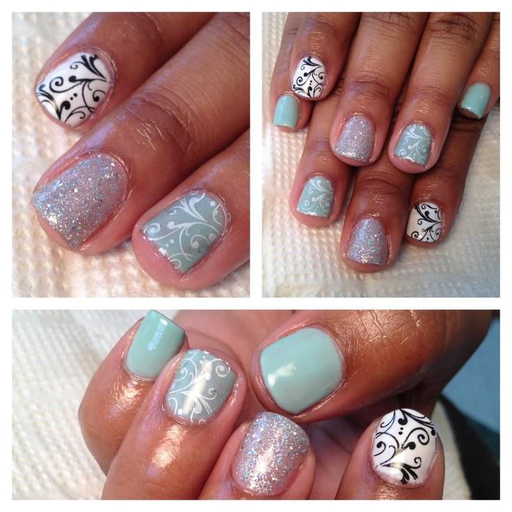 nail design with gel manicure gel nails mani natural nails nail art