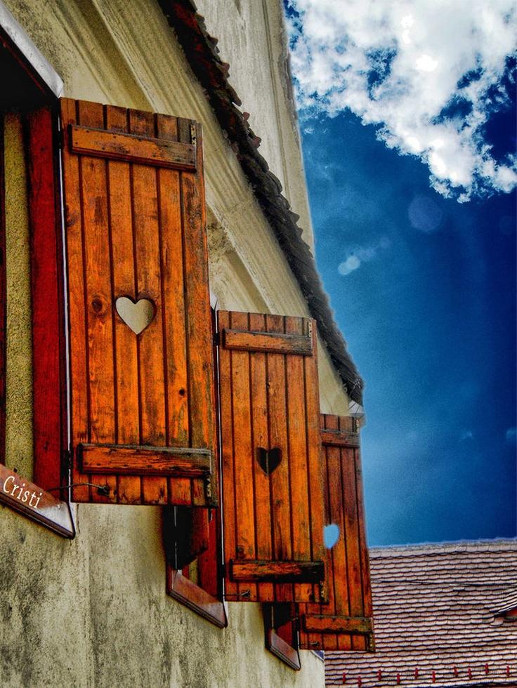 Heart window shutters
