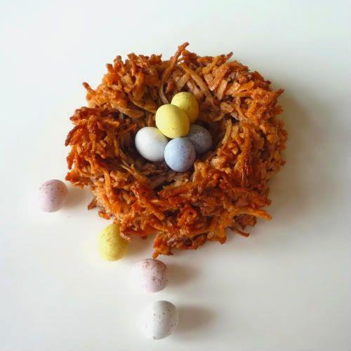 Bird's Nest Cookies - Chocolate Coconut Macaroons