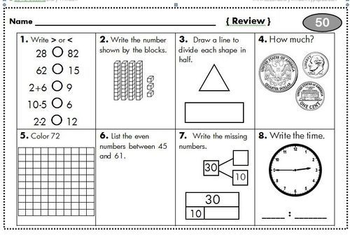 2nd grade homework packet