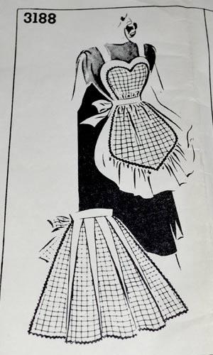 vintage apron patternlove the black/white