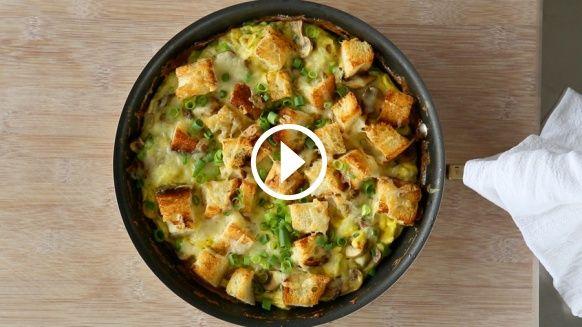 Mushroom, Cheddar, and Toast Frittata | My favourite recipes. | Pinte ...