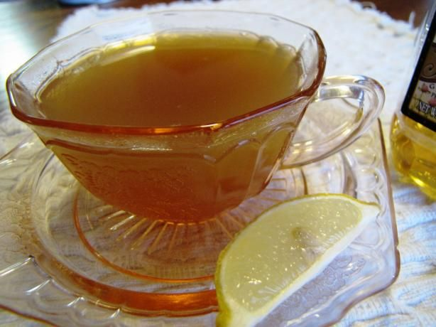 Honey lemon ginger tea and there is also a recipe for anise-ginger tea ...