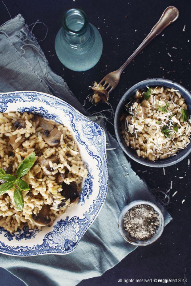 Mushroom & Leek Risotto