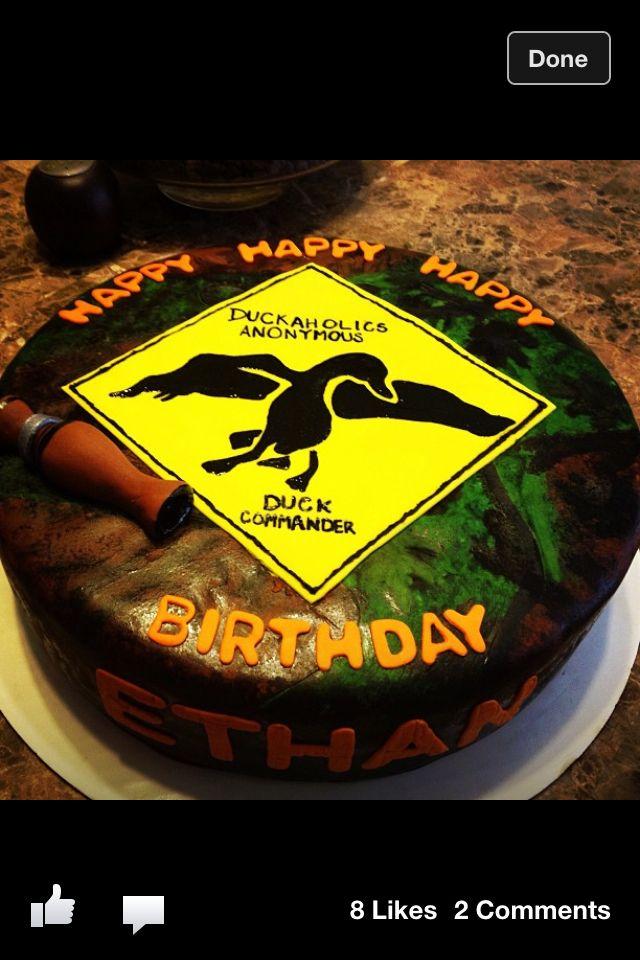 Duck Commander birthday cake for Jake.